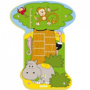 Деревянная игрушка  Настенный пазл Обезьянка в джунглях Beleduc