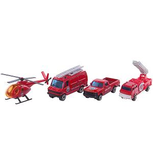 Набор Служба спасения - пожарная команда  4 штуки Welly
