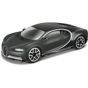 Коллекционная машинка  Bugatti Chiron 1:43, чёрная Bburago. Цвет: черный