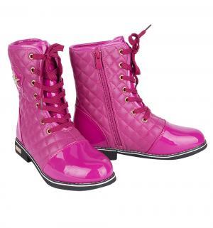 Ботинки , цвет: розовый Леопард