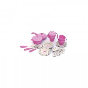 Набор кухонной и чайной посудки Барби (21 предмет), Нордпласт