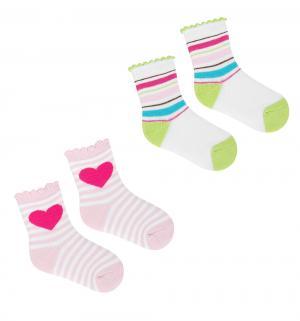 Комплект носки 2 пары  Яркий принт. Girl, цвет: мультиколор Luvable Friends