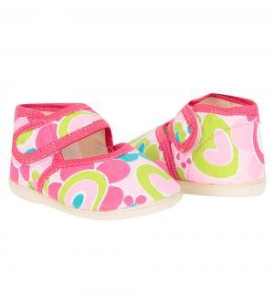 Туфли комнатные  Домашки, цвет: розовый Скороход