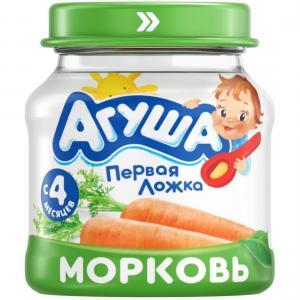 Пюре  морковь с 4 месяцев, 80 г Агуша