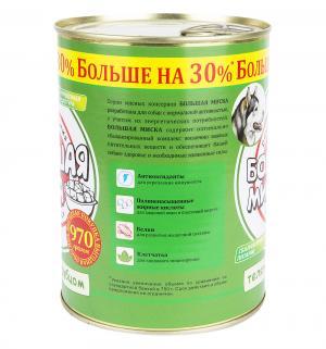Корм влажный  Большая Миска для взрослых собак, телятина/рубец, 970г Зоогурман