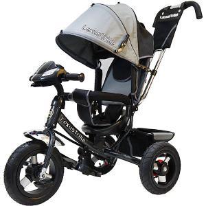 Трехколесный велосипед  с надувными шинами 12 и 10 Lexus Trike. Цвет: серый