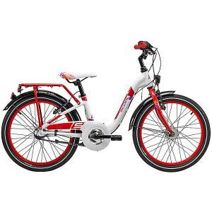 Двухколесный велосипед  chiX 20, белый Scool. Цвет: белый