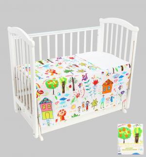 Комплект постельного белья , цвет: белый Leader Kids