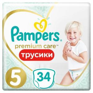 Трусики-подгузники  Premium Care Pants, р. 5, 12-17 кг, 34 шт Pampers