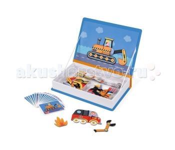 Книга-игра Транспорт магнитная Janod