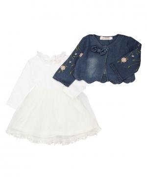 Платье и накидка Kidly