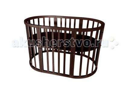 Кроватка-трансформер  овальная 3 в 1 Папа Карло