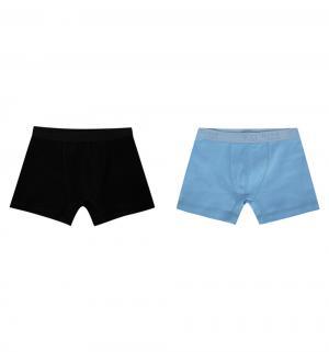 Комплект трусы-боксеры 2 шт , цвет: черный/голубой Белый Слон