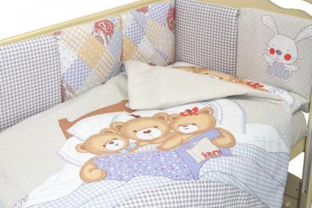Комплект в кроватку  Мишки под одеялом (6 предметов) Labeille