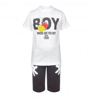 Комплект футболка/шорты , цвет: белый M&D