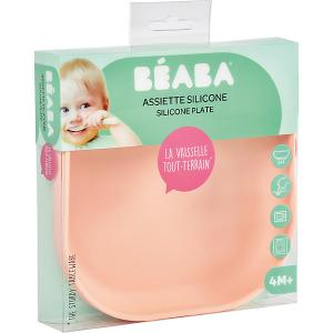 Тарелка из силикона Beaba Silicone suction plate, розовый BÉABA. Цвет: розовый