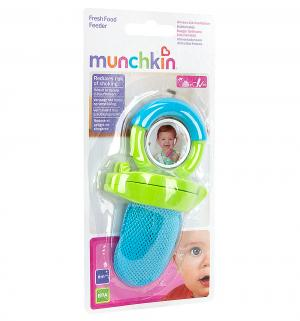 Ниблер  для прикорма пластик, цвет: синий/ручка зеленая Munchkin