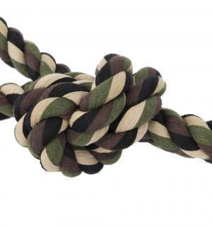 Игрушка для собак  Канат с 3-мя узлами, цвет: зеленый, 600г*60см I.P.T.S.