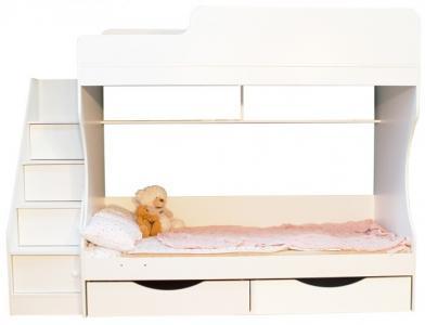 Подростковая кровать Капризун 6 двухъярусная с ящиками Можга (Красная Звезда)