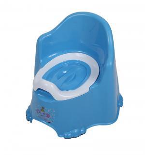 Горшок  Комфорт, цвет: голубой Dunya