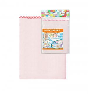 Наматрасник  в кроватку клеенка с ПВХ покрытием, 1 шт, цвет: розовый Виталфарм