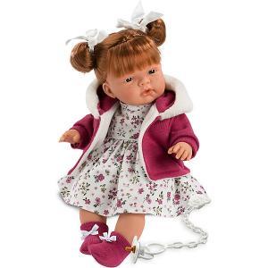 Кукла  Катя 38 см, со звуком Llorens. Цвет: красный