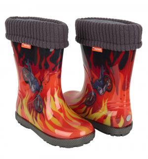 Резиновые сапоги  Огонь, цвет: красный Demar