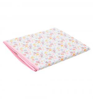 Клеенка  трехслойная, 1 шт, цвет: розовый Мир Детства