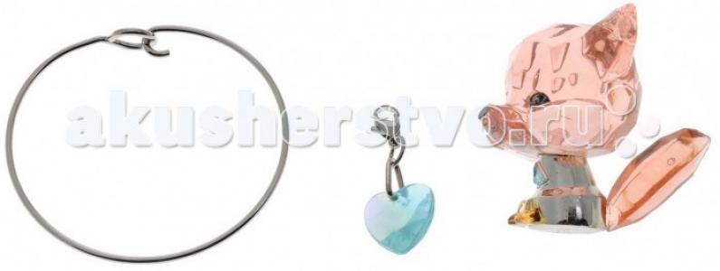Фигурка Лисенок с браслетом и подвесками Crystal Surprise