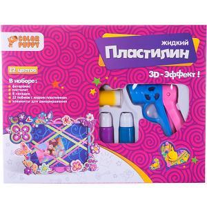 Набор для декорирования фоторамки  с пистолетом и жидким пластилином Color Puppy. Цвет: фиолетовый