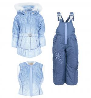 Комплект куртка/жилет/полукомбинезон  Инна, цвет: голубой Alex Junis