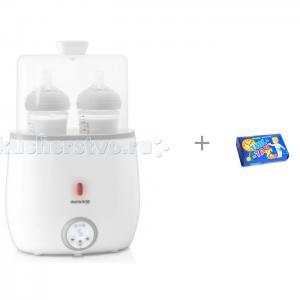 Подогреватель-стерилизатор для 2-х бутылочек Warmy Twin и Свобода Мыло Тик-так 150 г Miniland
