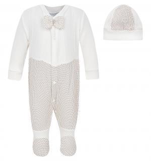 Комплект комбинезон/шапка  Горошек, цвет: белый Baby Street