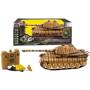 Радиоуправляемый танк  Tiger Пламенный мотор. Цвет: зеленый