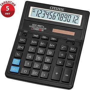 Настольный калькулятор  SDC-888TII Citizen. Цвет: черный
