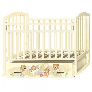 Кровать  Алита 4 Медвежата, цвет: слоновая кость Антел