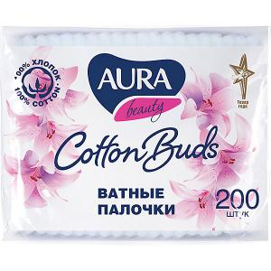 Ватные палочки AURA, 200 шт Cotton Club