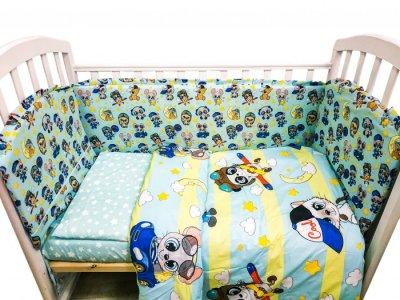 Комплект в кроватку  Малыши мальчики (6 предметов) Сонная сказка