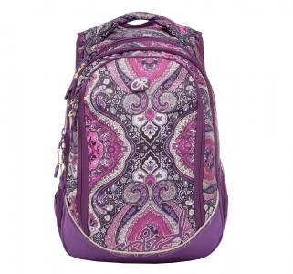 Рюкзак  цвет: фиолетовый-бежевый 29х40х19 см Grizzly