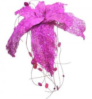 Декоративное украшение  Гранд Карнавал Волшебный цветок фукси 35 см Winter Wings