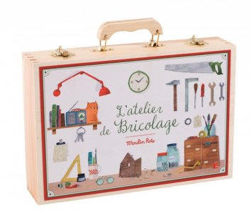 Большой чемоданчик плотника (14 предмета) Moulin Roty