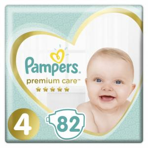 Подгузники Premium Care р.4 (9-14 кг) 82 шт. Pampers
