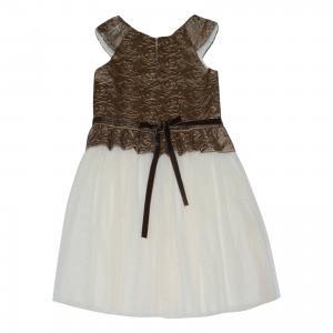 Нарядное платье Wojcik. Цвет: бежевый