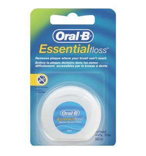 Зубная нить  Essential невощенная 50 м, от 12 лет Oral-B