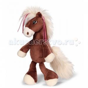 Мягкая игрушка  Лошадка Вельвет коричневая сидячая 35 см Nici