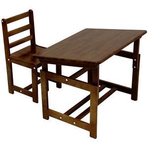 Комплект детской мебели Фея Растем вместе, табачный дуб. Цвет: коричневый