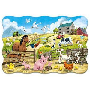 Пазл  Животные на ферме, 20 деталей Castorland