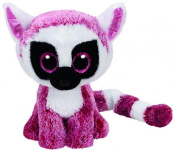 Игрушка Beanie Boos Лемур Leeann, цвет: розовый TY Inc