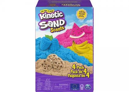 Кинетический песок Hабор для лепки ароматизированный 4 шт. Kinetic Sand