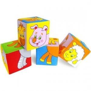 Кубики  Собери картинку животные 2, 8 см Мякиши